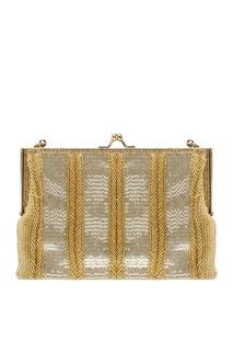 Золотистая сумка со стеклярусом (80-е) Walborg Vintage