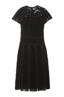 Платье из кружева с отделкой Valentino