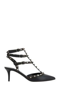 Кожаные туфли с шипами Valentino