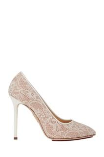 Туфли с кружевом Monroe Charlotte Olympia