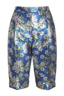 Блестящие шорты с цветочным рисунком Delpozo