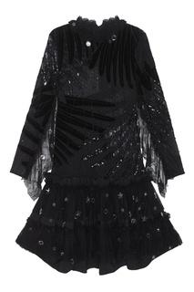 Платье с комбинированной отделкой Romance WAS Born