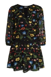 Платье с цветочной вышивкой Alice + Olivia