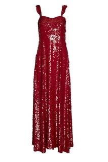 Шелковое платье с пайетками Valentino