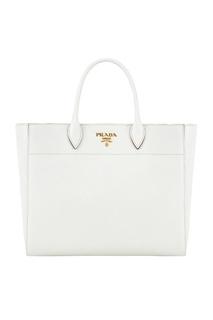 Кожаная сумка Tote Prada