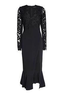 Платье с кружевом David Koma