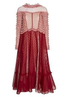 Хлопковое платье с кружевом Valentino