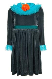 Бархатное платье Gucci Children