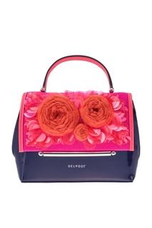 Кожаная сумка с декором Delpozo