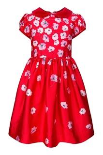 Платье с цветами Oscar de la Renta Children