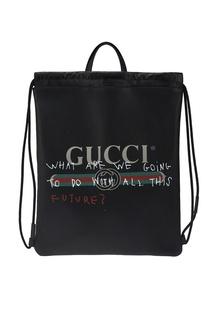 Черный кожаный рюкзак Coco Capitan Gucci
