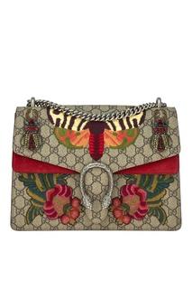 Сумка Dionysus с цветочной вышивкой Gucci