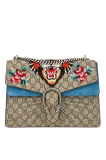 Сумка Dionysus с вышивкой тигра Gucci
