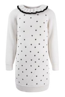 Платье-свитер с вышивкой Dior Children