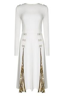 Платье с плиссированными вставками Esve
