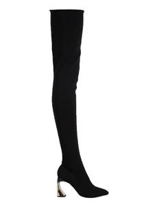 Черные ботфорты-чулки Rosbalet