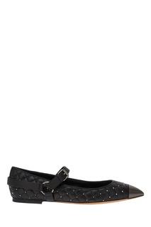 Стеганые кожаные туфли Valentino