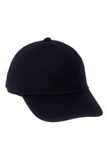 Темно-синяя шерстяная кепка Canali