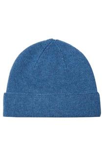 Голубая шапка из кашемира Canali