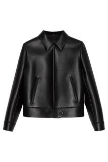Черная кожаная куртка Prada