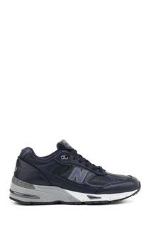 Синие кожаные кроссовки №991 New Balance