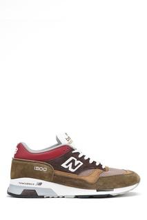 Замшевые кроссовки цвета хаки №1500 New Balance