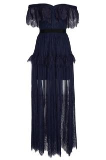 Платье-макси из тонкого кружева Self Portrait