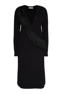 Черное платье с запахом Altuzarra
