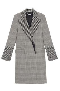 Шерстяное черно-белое пальто Stella Mc Cartney