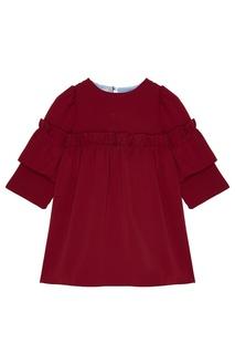 Бордовое платье с драпировками Aliou Kids