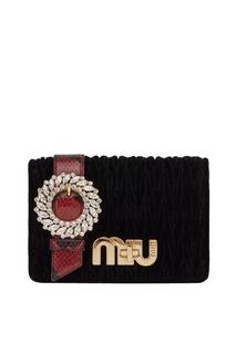 Бархатная сумка с драпировками My Miu