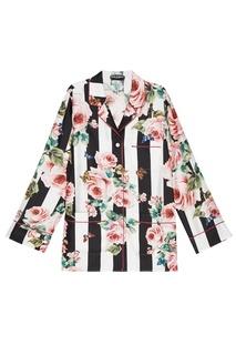 Шелковая блузка с принтом Dolce&;Gabbana