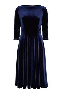 Синее бархатное платье ЛИ ЛУ