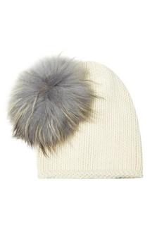 Белая шапка из шерсти и кашемира Miu Miu