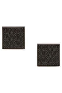 Стальные запонки с черной эмалью Canali