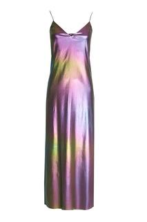 Разноцветное платье на беретлях ЛИ ЛУ