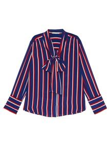 Шелковая блузка в полоску Alice + Olivia