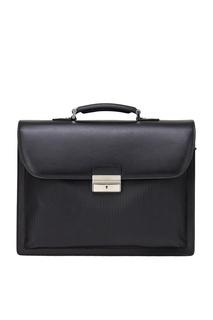 Кожаный портфель черный Canali