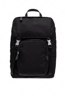 Черный рюкзак из текстиля Prada