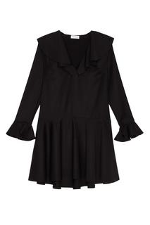 Шерстяное платье с воланами ЛИ ЛУ