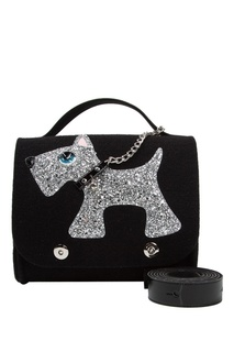 Черная сумка с собачкой Roro