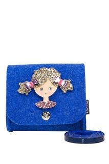 Синяя сумка с аппликацией Roro