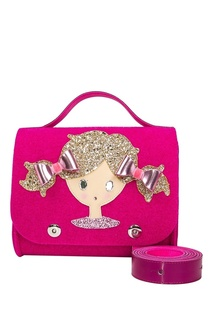 Розовая сумка с аппликацией Roro