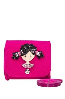 Розовая сумка из фетра Roro