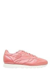 Розовые атласные кроссовки Reebok