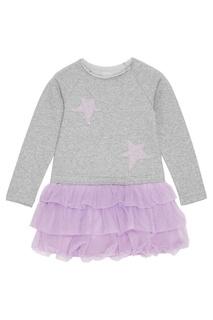 Платье с сиреневыми воланами Skirts&More