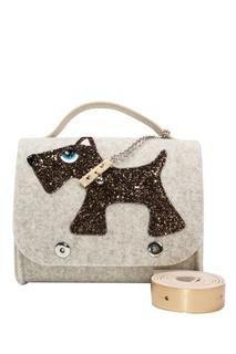 Бежевая сумка с собачкой Roro