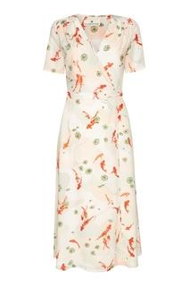 Платье-миди с принтом Laroom