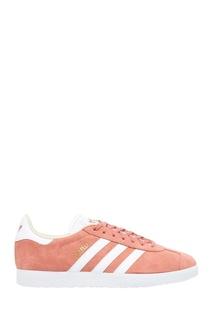 Розовые кеды из замши Gazelle Adidas
