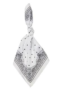 Белый хлопковый платок Dolce&;Gabbana